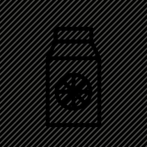 beverage, drink, fruit, juice, orange, slice, tetra-pak icon