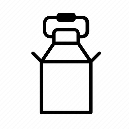 beverage, bucket, canister, container, drink, farm, milk icon