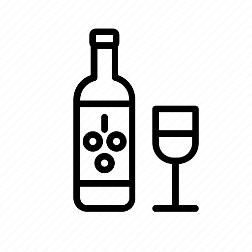 beverage, bottle, drink, drinks, glass, grape, wine icon