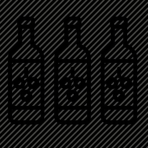 beverage, bottle, drink, drinks, glass, grape, wine icon