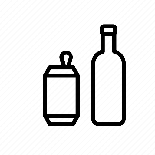beverage, bottle, can, container, drink, recycle, recylcing icon