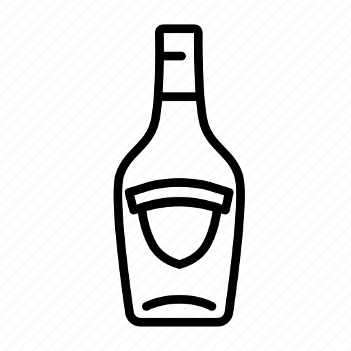 alcohol, beverage, bottle, champagne, drink, liquor, wine icon