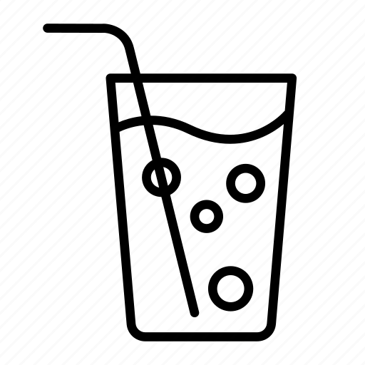 beverage, drink, glass, hydration, soda, soft drink, water icon