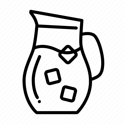 beverage, cold, drink, ice, ices, pitcher, water icon