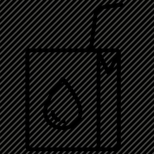 beverage, drink, milk, milk box, milk carton, milk pack, packaged food icon
