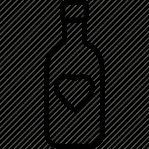 alcoholic, beverage, bottle, drink, milk, wine icon