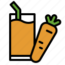 beverage, carrot, drinks, fruit, healthy, juice, smoothie icon