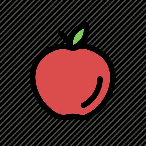 apple, fresh, fresh fruit, fruit, health, nature icon