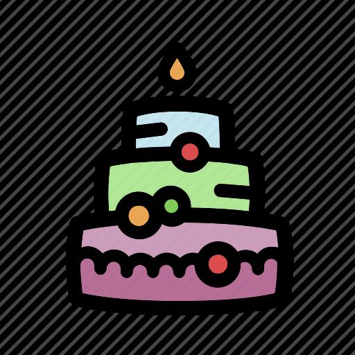 bakery, birthday, birthday cake, cake, celebration, dessert, party icon