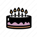 bakery, birthday, birthday cake, cake, celebration, dessert, party icon