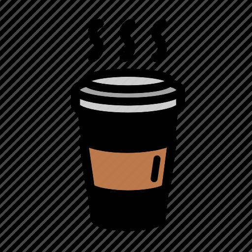 beverage, breakfast, coffee, drink, hot coffee, hot drink icon
