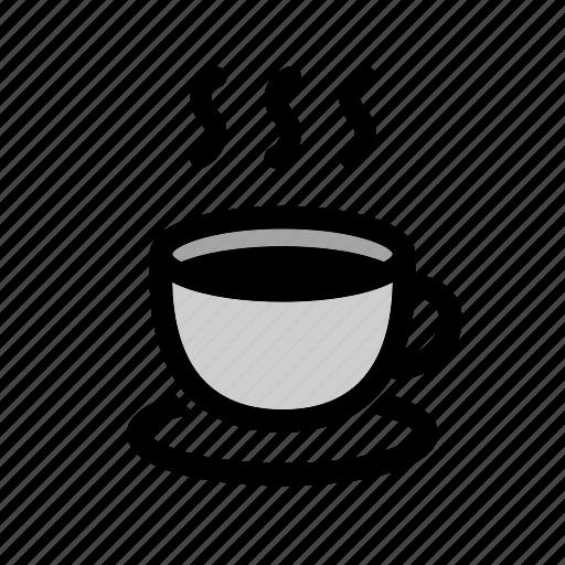 coffee, coffee cup, drink, hot coffee, hot drink, mug icon