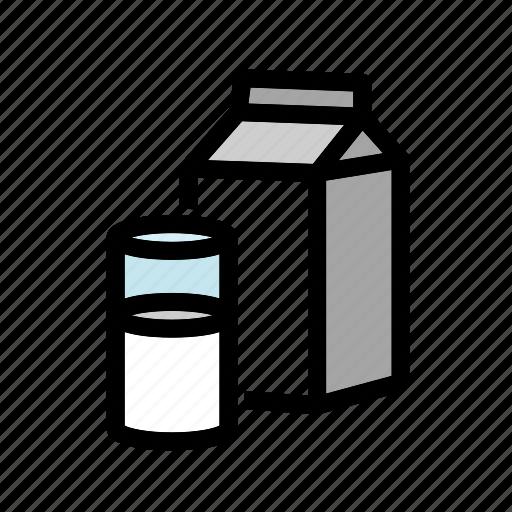 beverage, drink, glass, milk, milk-box, milk-carton icon