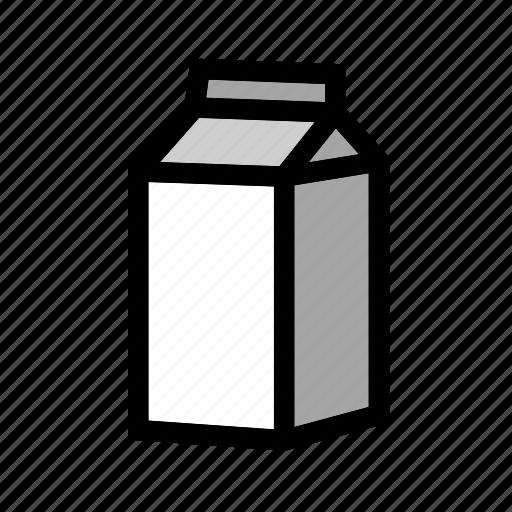 beverage, drink, milk, milk-box, milk-carton, pack icon