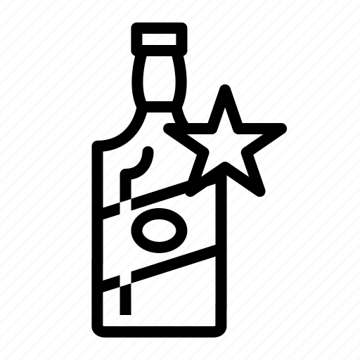 award, bottle, premium, spirits icon