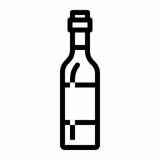 bottle, drinks, red, wine icon