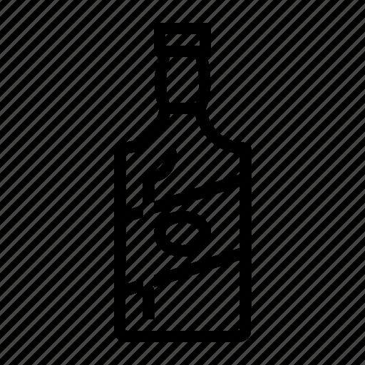 bottle, drinks, gin, whiskey icon