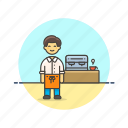 barista, coffee, drink, hot, machine, man, tea icon