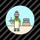 barista, machine, coffee, hot, man, cup, drink