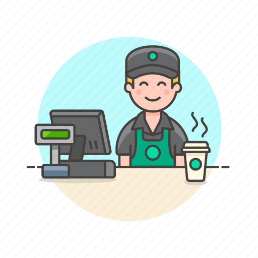 avatar, barista, cashier, coffee, drink, hot, man, tea icon