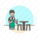 barista, beverage, cafe, drink, man, restaurant, serving, shake icon