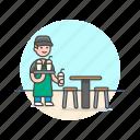 barista, beverage, cafe, drink, man, restaurant, serving, shake icon