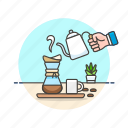 brewing, coffee, drinks, drip icon