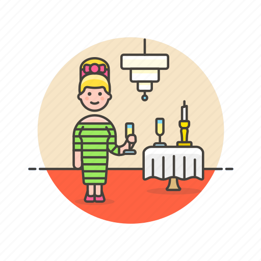 beverage, celebration, champagne, drink, formal, glass, party icon