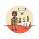 beverage, celebration, champagne, drink, formal, man, party icon