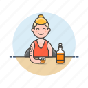 beverage, drink, glass, man, spirit, tattoo, whiskey, whisky icon