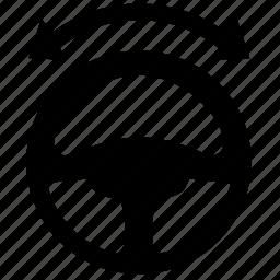 arrow, car, drive, driver, left, right, wheel icon