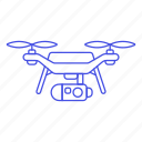 unmanned, aircraft, aerial, vehicle, uav, drone, camera icon