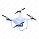 isometric, ornament, pattern, quadrocopter, white icon