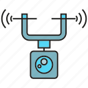 aerial, aircraft, camera, drone, equipment, flight, surveillance icon