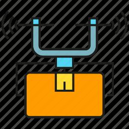 aviation, box, delivery, drone, flight, logistics, shipping icon