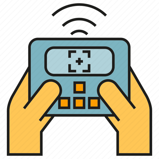 controller, equipment, hand, remote, wifi icon