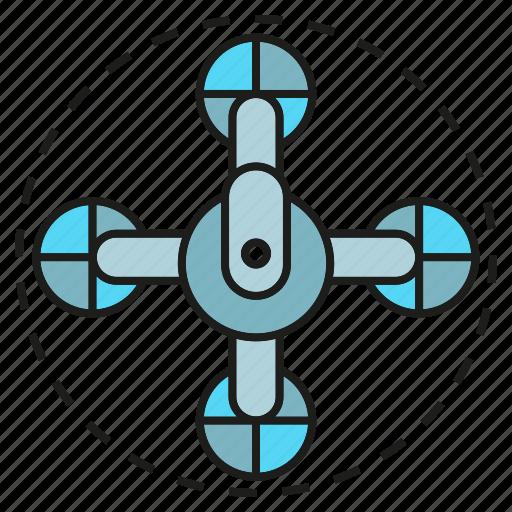 aerial, aircraft, aviation, drone, equipment, flight, propeller icon