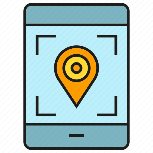 gps, location, mobile, phone, pin, tracking icon