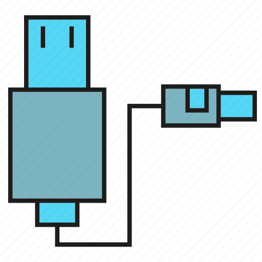 cable, charge, device, electronic, plug, usb icon