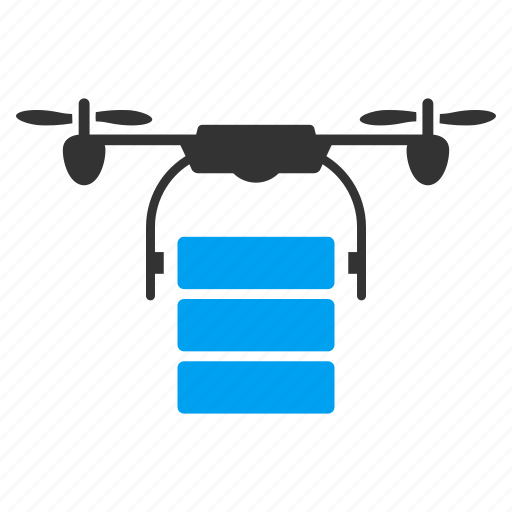 cargo, copter, delivery, drone, quadcopter, shipment, transportation icon