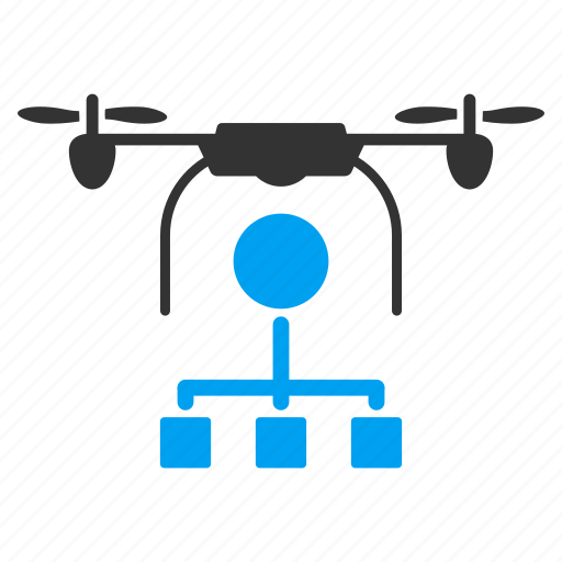 copter, diagram, distribution, drone, nanocopter, quadcopter, scheme icon