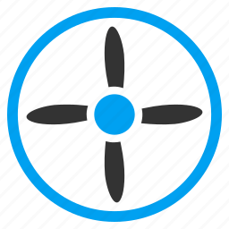 copter, drone, fan, nanocopter, quadcopter, rotor, screw icon