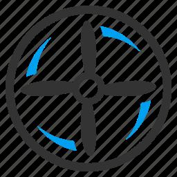 copter, drone screw, fan, nanocopter, rotation, rotor, turbine icon