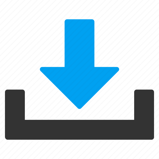 delivery, down, download, drop, supply, unload, unloading icon