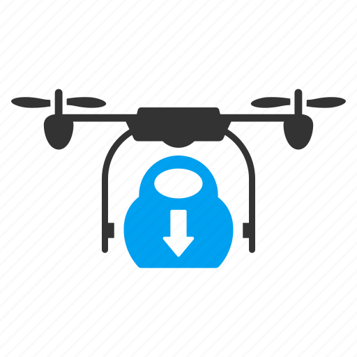 cargo, copter, drone, drop, nanocopter, quadcopter, unload icon