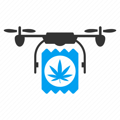 cannabis distribution, copter, drone, drugs, marijuana, pharmacy delivery, quadcopter icon