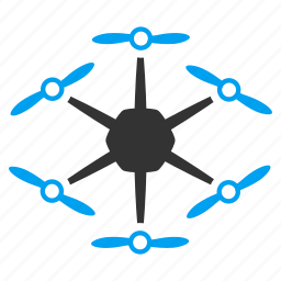 air drones, flying drone, hex copter, hexacopter, nanocopter, radio control uav, unmanned aerial vehicle icon