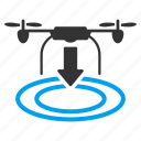 arrival, copter, drone, landing, nanocopter, quadcopter, shipment icon