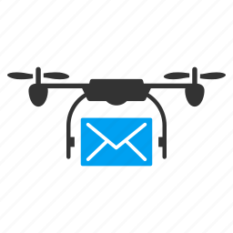 communication, copter, drone, mail delivery, message, nanocopter, quadcopter icon