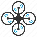 air drones, flying drone, nanocopter, quad copter, quadcopter, radio control uav, screw rotation icon